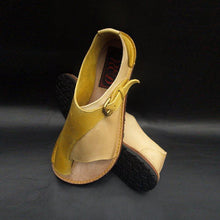 Load image into Gallery viewer, Casual Summer Daily  Color Block Leather Sandals