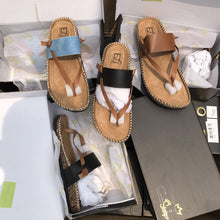 Load image into Gallery viewer, Ladies Herringbone Sandals Slippers