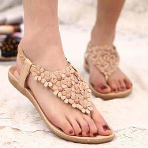 2018 Summer Flower Flat Heel Bohemia Sandals