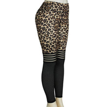 Load image into Gallery viewer, Spot supply cross-border Amazon explosions leopard texture breathable slim yoga pants pants