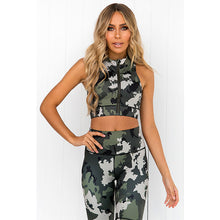 Load image into Gallery viewer, Camo Printing Yoga Fitness Suite Wet and Sweat Exhaust Yoga Suit Women's Fitness Suite