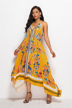Load image into Gallery viewer, Print Halter Beach Summer Maxi Dress