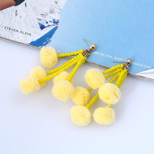 1 Pair bohemia style long earrings small tassel jewelry Xmas party