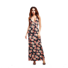Load image into Gallery viewer, Floral Print Spaghetti Strap Beach Maxi Long Dress
