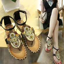 Load image into Gallery viewer, 2018 Bohemia Summer Beach Flat Sandals