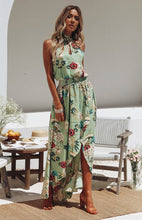 Load image into Gallery viewer, Floral Print Sleeveless Beach Bohemia Maxi Dress