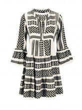 Load image into Gallery viewer, Boho Printed Tribal Bell Sleeve Dresses