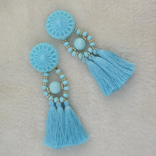 Load image into Gallery viewer, 10 color Womens long earrings hanging drops tassels earring for Xmas bohemia party