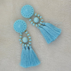 10 color Womens long earrings hanging drops tassels earring for Xmas bohemia party