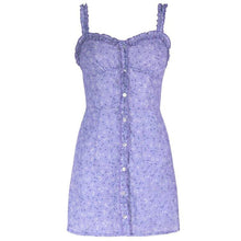 Load image into Gallery viewer, New arrival slim hip holiday style lace printing strap dress