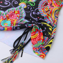 Load image into Gallery viewer, New Sexy Bikini Fringed Cloud Pattern Print Bag Hip Split Briefs Swimsuit