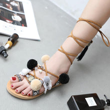 Load image into Gallery viewer, 2018 Flat Heel Strap Beach Sandals