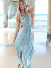 Load image into Gallery viewer, Pretty Sexy Strapes V Neck Sleeveless Off-Shoulder Loose Beach Maxi Dress