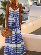 Load image into Gallery viewer, Bohemian Printed long Dress Casual Holiday Maxi Dress
