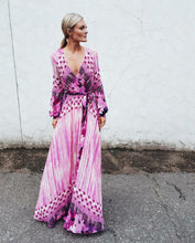 Load image into Gallery viewer, Boho Printed Long Sleeve Maxi Dress Bohemian Maxi Dress
