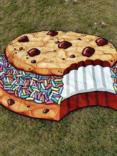 Load image into Gallery viewer, Printed New Beach Towel Shawl Chocolate Sandwich Biscuit Mat