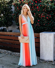 Load image into Gallery viewer, Women New Colorful Sling Print Holiday Evening Dress Maxi Dress