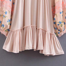 Load image into Gallery viewer, Bohemian Vintage Embroidered Ruffled Skirt with Loose Lace Dress