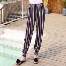Load image into Gallery viewer, Lantern Pants Bohemian Loose Artificial Cotton Wide Leg Elephant Beach Trousers