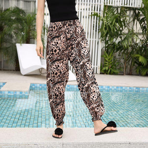 Lantern Pants Bohemian Loose Artificial Cotton Wide Leg Elephant Beach Trousers