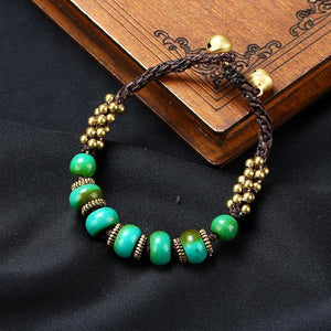 New Boho Ethnic Style Jewelry Nepal Bracelet Retro Creative DIY Wax Rope Woven Jewelry