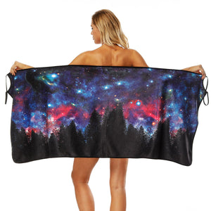 Star print Bath Towel Strap Bath Skirt Quick-drying Large Bathrobe Beach Towel-2