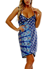 Load image into Gallery viewer, Printed V-neck Sling Beach Towel Bathrobe-1