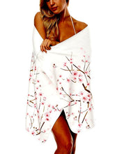 Load image into Gallery viewer, Printed V-neck Sling Beach Towel Bathrobe-2