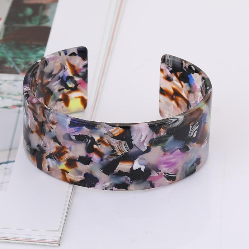 Fashion Exaggerated Leopard Open Wide-faced Bracelet