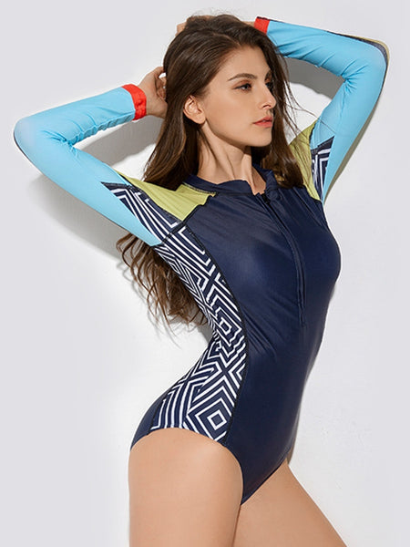 Long Sleeve Surf One-piece Swimsuit