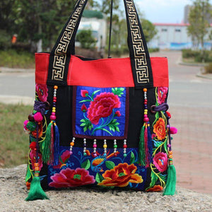 Ethnic Embroidery Shoulder Bag - 2