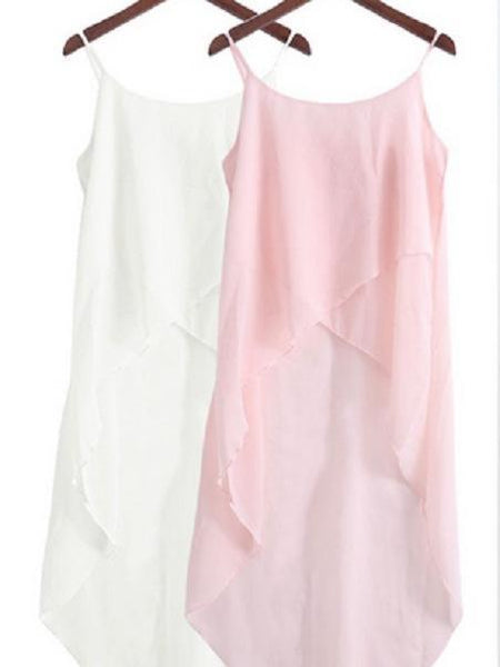 Chiffon Sling Dress Cardigan Top