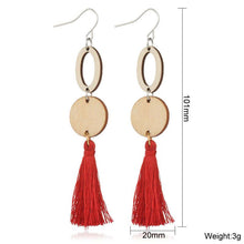 Load image into Gallery viewer, Bohemian Long Tassel Earrings