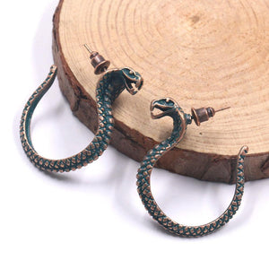 Retro hand-woven rope serpentine earrings