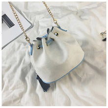 Load image into Gallery viewer, National Wind Mini Diagonal Canvas Bucket Bag