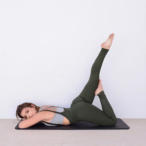 Strap Solid Color Yoga Hip Tights