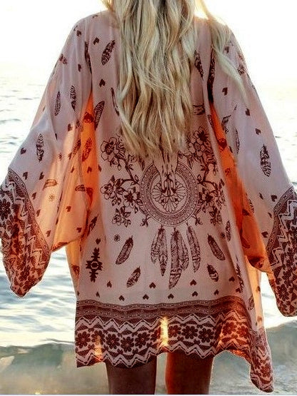 Beach Chiffon Blouse Sun Protection Cover Up