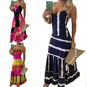 Slim Fit Printed Camisole Long Dress