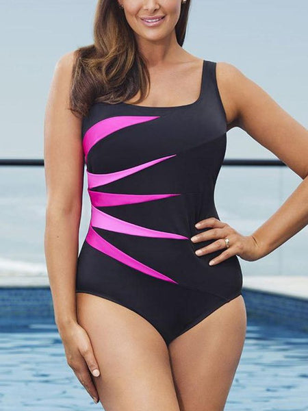 Oversized Striped One Piece Swimsuit