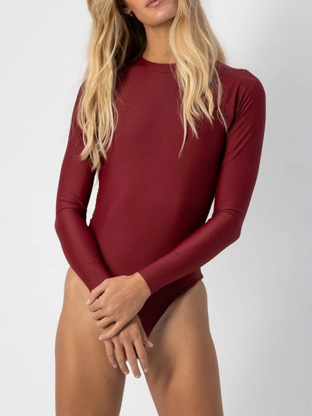 One-piece Long Sleeve Surf Suit Swimwear