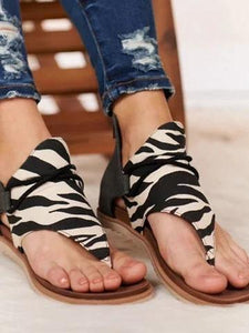 Casual Beach Flip-Front Zip Roman Sandals