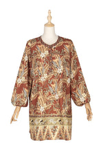 Load image into Gallery viewer, Bohemian V-neck print dress blouse