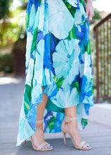 Load image into Gallery viewer, Chiffon Printed Halter Sleeveless Backless Boho Beach Maxi Dress