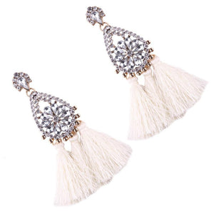 8 color Women s long earrings hanging drops tassels earring for Xmas bohemia party