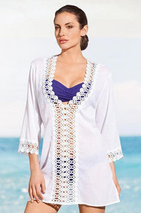 V Neck Hollow Beach Swimwear Bikini Cover Up