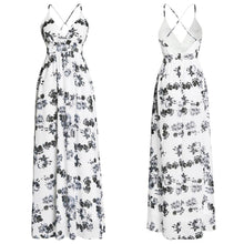 Load image into Gallery viewer, Floral Print V Neck Spaghetti Strap Bohemia Beach Maxi Dress