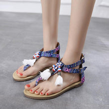 Load image into Gallery viewer, 2018 Beach Tassel Bohemia Flat Sandals