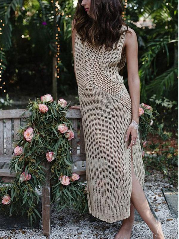 Beach Bikini Swimsuit Swimwear Crochet Maxi Dress