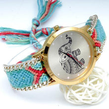 Load image into Gallery viewer, New Elephant Braided Watch DYI Bracelet Watch