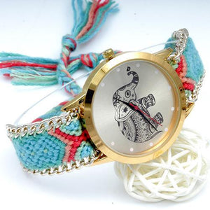 New Elephant Braided Watch DYI Bracelet Watch